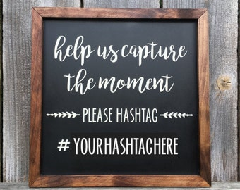 "Wooden Hashtag Sign, Wedding, Party, Hashtag Sign, ""chalkboard"", Wedding Decor, Event Decor"