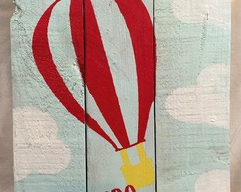 Adventure Awaits Hot Air Balloon Wall Hanging