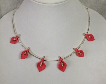 Coral Necklace & Earring Set
