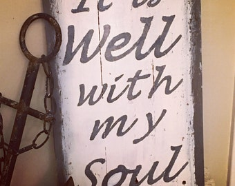 It is well with my soul pallet wood sign