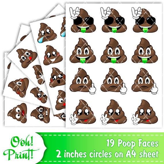 Blank Calendar Emoji : Printable poop emoji stickers for happy planner erin by