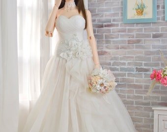 Wedding Dress For Iplehouse EID, SID BJD