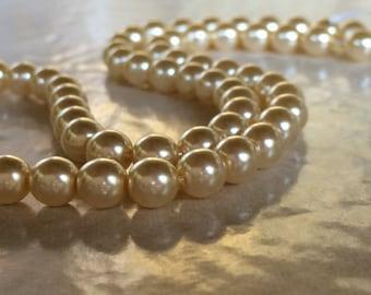 Cream Rose Swarovski Pearls ~ 6mm ~ (Strand of 80) Beads Model SW5810 ~ (#7550) Antique, Victorian