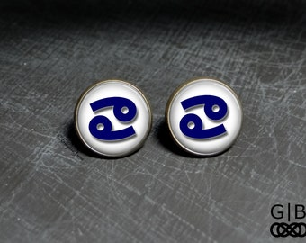 Cancer Earrings Studs June Birthday Studs - July Cancer Studs earrings - July Jewelry Birthday Studs - Cancer July Jewelry - Cancer Birthday