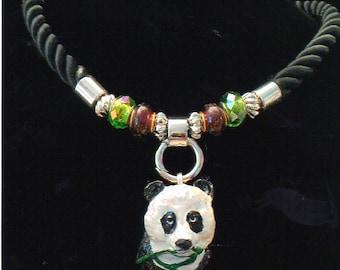 28/I     Panda on Rope Necklace