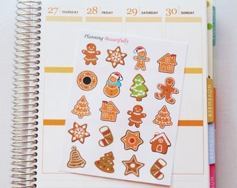 Christmas Cookie Stickers, Christmas Stickers, Holiday Stickers, Christmas Baking Stickers, Gingerbread Stickers, Cookie Stickers, Stickers