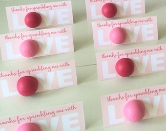 Sprinkled with Love Baby Shower Favor - PINK