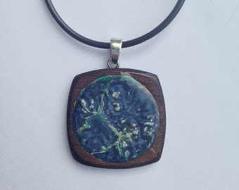 Hand-Painted Pendant on Chain