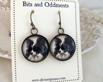 Papillon Dog Earrings