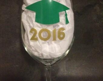 Graduation Wine Glass