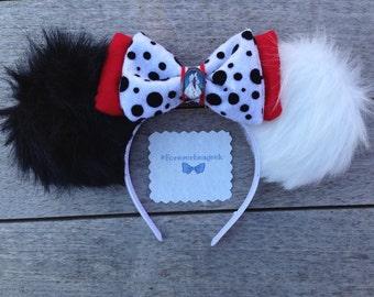101 Dalmatians - Cruella De Vil Fuzzy Mickey Ears