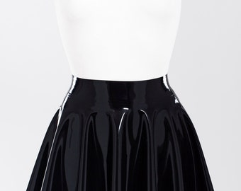 Sun flare skirt made of latex