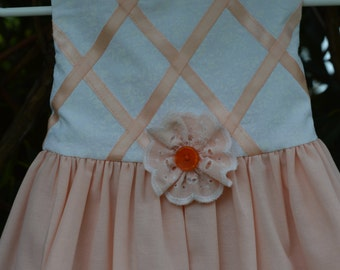 Vanilla and Orange Sherbet Summer Dress