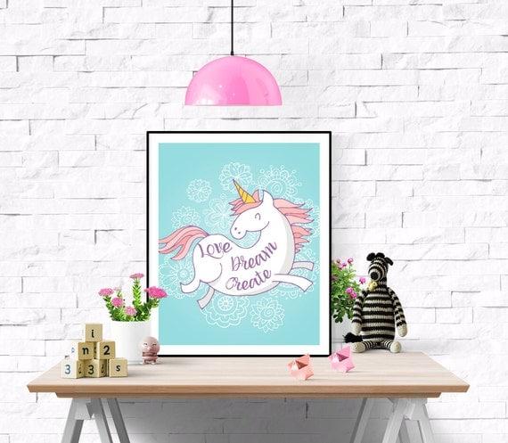 unicorn print unicorn nursery art unicorn baby gift baby