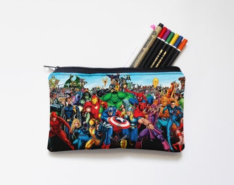 marvel Zipper Pouch, Pencil Pouch, Pencil Case,