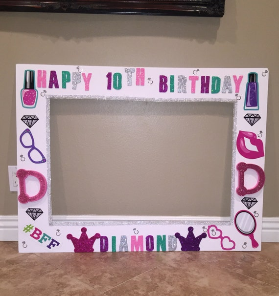 Girly Birthday Photo Frame Props Party Decorations