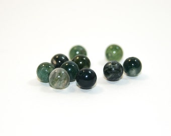 Agate green 4mm beads