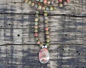 Jasper & Unakite Necklace