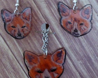 Cute fox face jewelry set: RUBY FRANCIS COLLECTION!