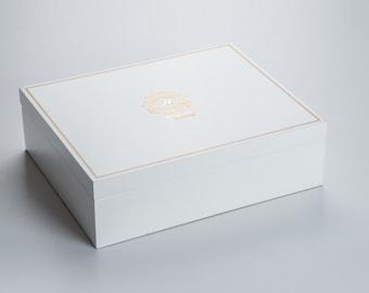 Beaumonté White Rakhi Gift Box - Highline