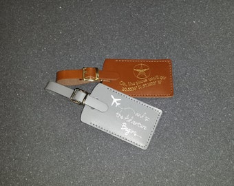 100 Customized Luggage Tag Wedding Favors - bulk listing - Made in Massachusetts