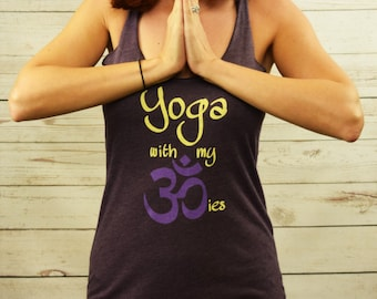Yoga with my Ohmies workout racerback tank