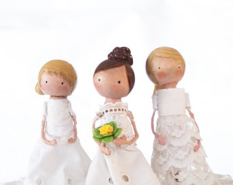 Custom clothespin peg doll