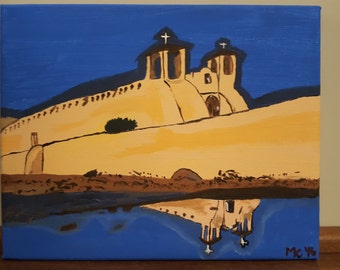 Reflection of Peace, St Francis of Assisi Church, Ranchos de Taos, NM, Hand Painted