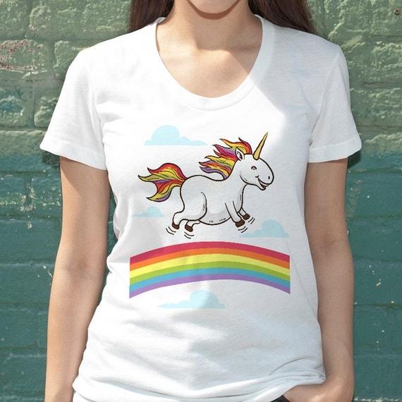 items similar to funny unicorn dancing on rainbows tee. Black Bedroom Furniture Sets. Home Design Ideas