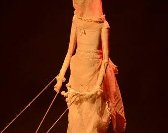 Bride - sculpture doll-