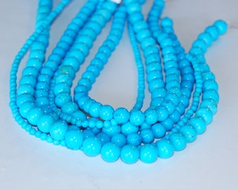 Synthetic Turquoise Loose Beads 4/8/10mm