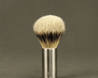 Stainless Steel Shaving Brush, Stainless Steel Shaving Supplies, Natural Bristle Shaving Brush, Handmade Shaving Brush, groomsmen gift