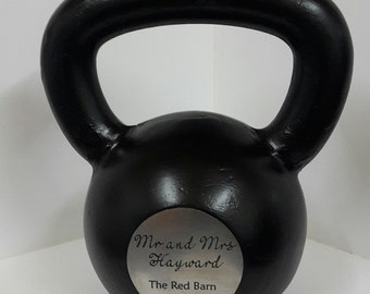 Custom engraved kettlebell with text / image of your choice