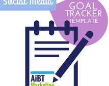 Social Media Goal Tracker Easy to Use Excel Template