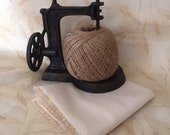 Natural Weavers Cloth for Punch Needle- Fat Quarter