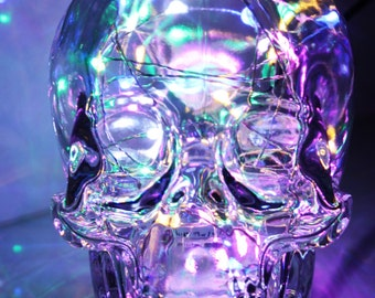 Skull lamp, Skull Vodka Lamp, Bar lamp, Bar light, Skull light, night light, table light, table lamp, man cave, gift for him, bottle lamp