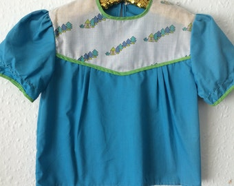 Vintage Girls Blouse - Age 3 to 4 years