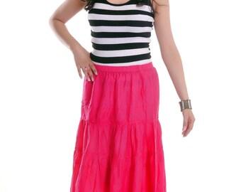 She's Cool Solid Skirt - Fuschia