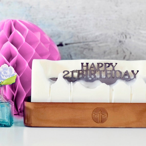 Happy 21st Birthday Candle Candle Holder Birthday Gift