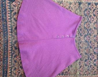 1960's Purple Mini Skirt
