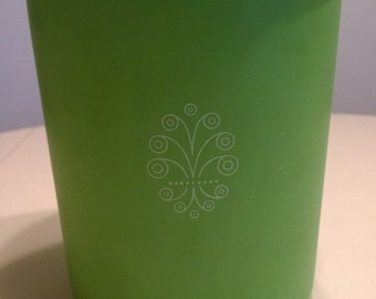 """Vintage 1970's Lime Green """"Servalier"""" Tupperware Storage Container"""