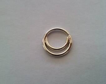 Double Septum Ring -  Septum Ring - Custom Nose Ring, Sterling Silver 16g, 6mm-10mm inner diameter,nose hoop,septum jewelry