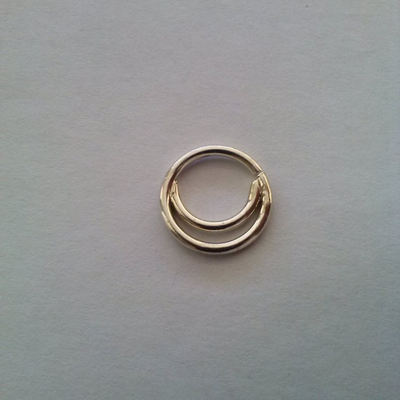 double septum ring septum ring custom nose ring sterling