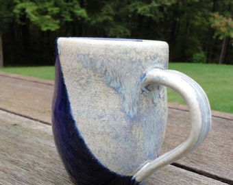 10 oz Blue Ceramic Mug - Stoneware