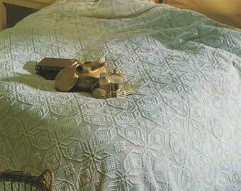 Bedspread Cover PDF Crochet Pattern : Afghan / Blanket / Throw . Instant Digital Download