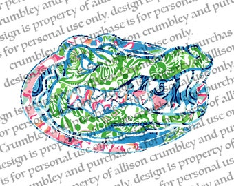 University of Florida Printable - Lilly Pulitzer Inspired