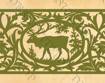 Deer SVG, silhouette deer, stencil for scroll saw, DIY, gift idea, Cricut Design, hunting svg, deer silhouette SVG, wild animals