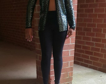 Sequin knitted jacket