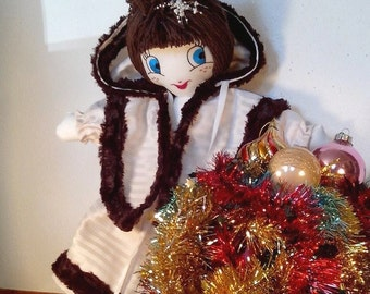 Doll decoration in cloth(rag) romantic style - FLAKE - Decorative objects