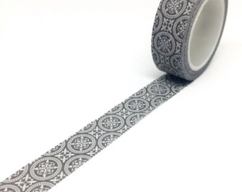 Grey and White Tile Washi Tape